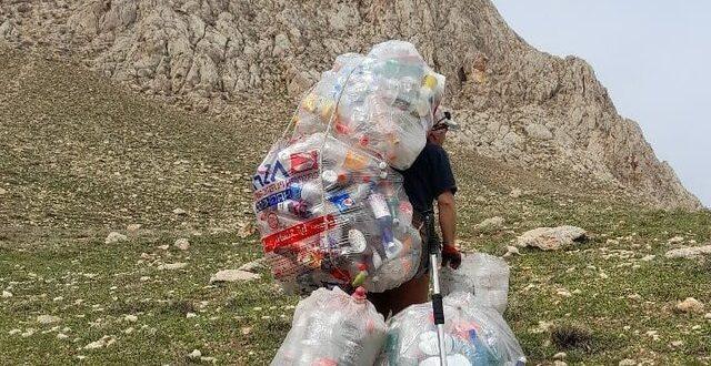 کار در ارتفاعات زباله